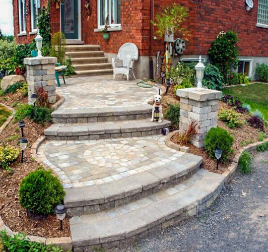Edmonton Landscaping Steps and Walls