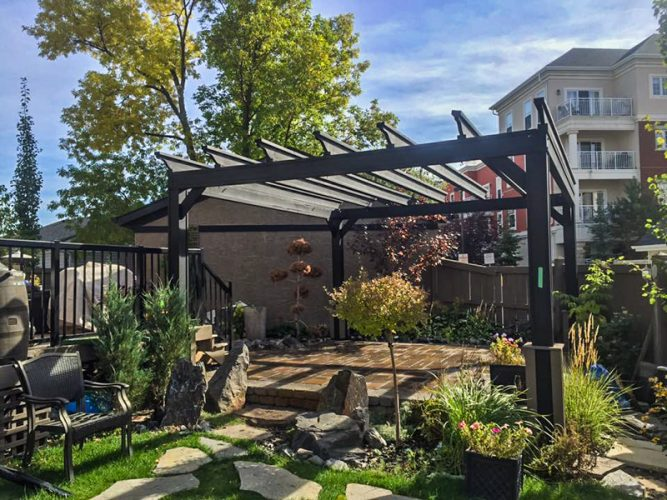 Edmonton Landscaping Patios and Pergola