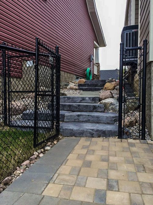 Edmonton Landscaping Stone Walkways and Stairs